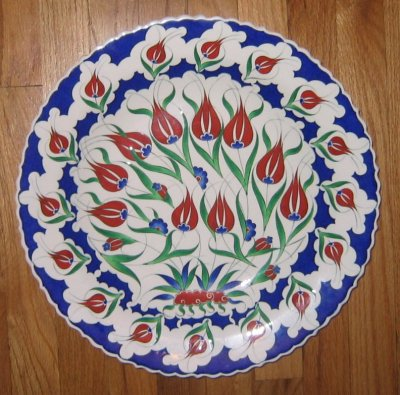 large Turkish Iznik plate