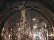 the Greek Orthodox section of the church of the Holy Sepulchre