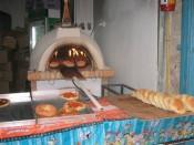 a pita oven in the Arab souk