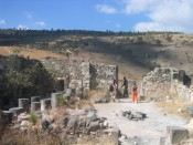 Berenice church ruins, overlooking Tverya (Tiberias)