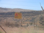 land mines along the Jordanian border