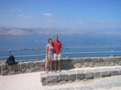 at Mitzpah HaShalom (Peace Vista), overlooking the Kinneret (Sea of Galilee)