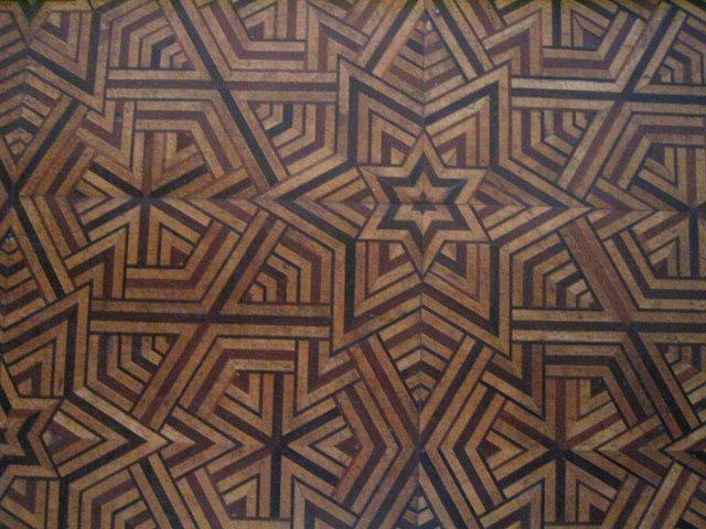 inlaid floor inside one room of Dolmabahçe