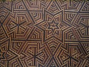 inlaid floor inside one room of Dolmabah�e