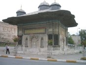 small, pretty building outside of Topkapı Palace