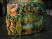 the medusa head in the Basilica Cistern