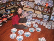 in a lovely ceramic shop, right before we spent a lot of $