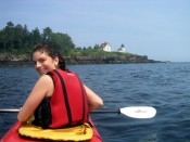 kayaking around Curtis Island