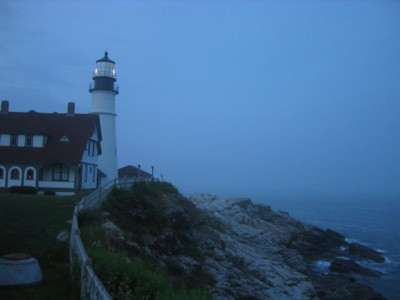 Portland Head Light at dusk--just before the fireworks