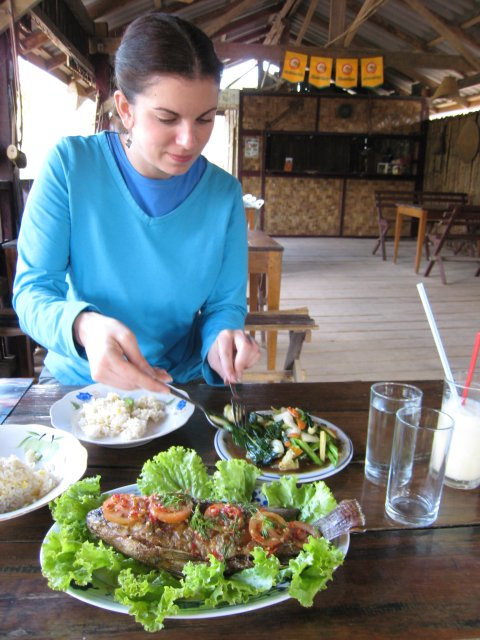 our first of many great meals in Laos