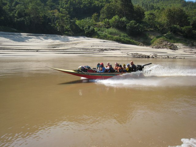 """one of the fast boats (a.k.a. """"Death Boats of the Mekong"""")"""