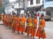 Luang Prabang, morning monk procession