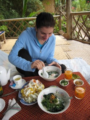 a delicious Lao breakfast
