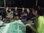the women singing traditional Lao songs
