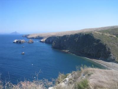 Santa Cruz island from one of its peaks