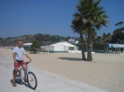 on the Santa Monica bike path