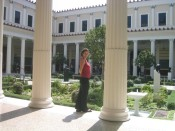 the courtyard of the Getty Villa