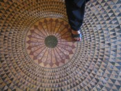 gorgeous mosaic floor at the Getty Villa