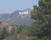 the elusive Hollywood sign