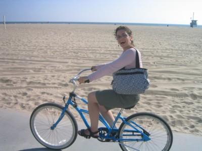 back on Santa Monica beach