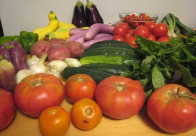 See the complete vegetable inventory.