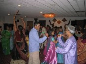 "sara almost caused an ""incident"" during the Raas (stick dance)"