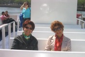 on the Randall's Island ferry