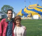 outside the Cirque du Soleil (Corteo) tent
