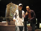 """at the Natural History Museum.  """"The Hall of Minerals ROCKS!""""  Hehe."""