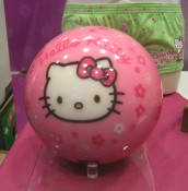 yes.  it's a Hello Kitty bowling ball.  and yes, i want it.
