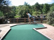 the mini-golfing is very serious at Pine Creek