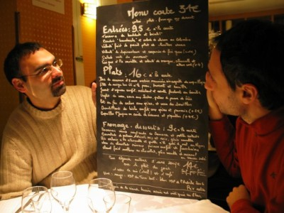 deciphering the menu at L'Avant Gout