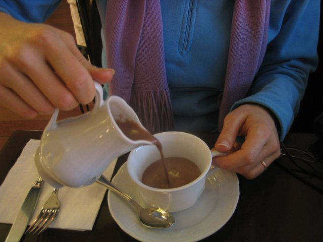 hot chocolate at Jean Paul Hevin (our favorite H.C.)