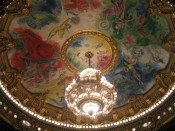 Chagall's ceiling at the Paris Opera House