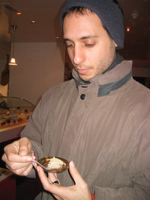 a white truffle sampling at Fauchon