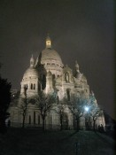 a lovely misty shot of the Basilique du Sacre Coeur