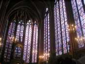 some of the beautiful stained glass in Sainte Chapelle