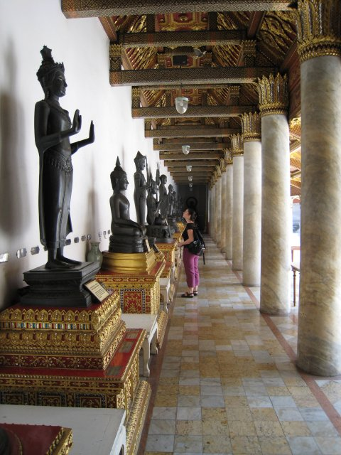 Buddha gallery at the Marble Temple