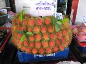 rambutans on display