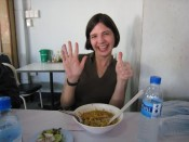 the American judge gives the khao soi a 6.0!