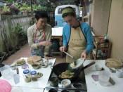 preparing pad Thai