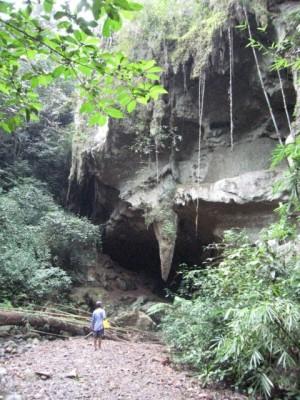 "entrance to the ""Bat Cave"" (Nam Talu cave)"