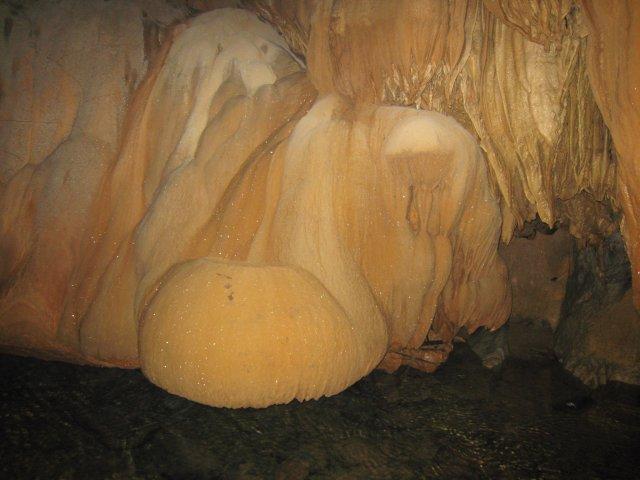 gorgeous stalagmites and stalactites