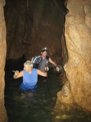 Nam Talu cave: Krista and Nathan getting deeper