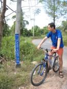 Tsunami marker at Khao Lak