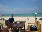 a delicious lunch on an idyllic white sand beach