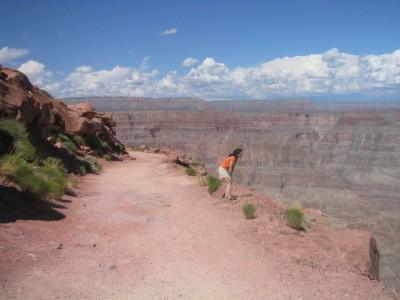 looking over a 4,000 foot drop