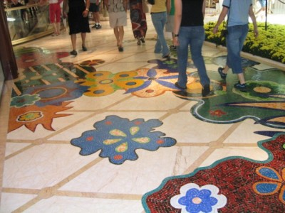 mosaic floor of the Wynn